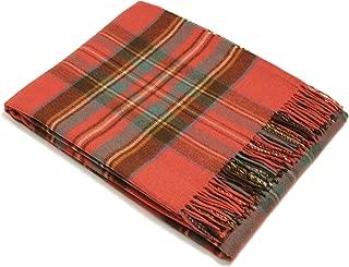 Bronte Throw Blanket - Tartan Throw - Merino Lambswool (Antique Royal Stewart)