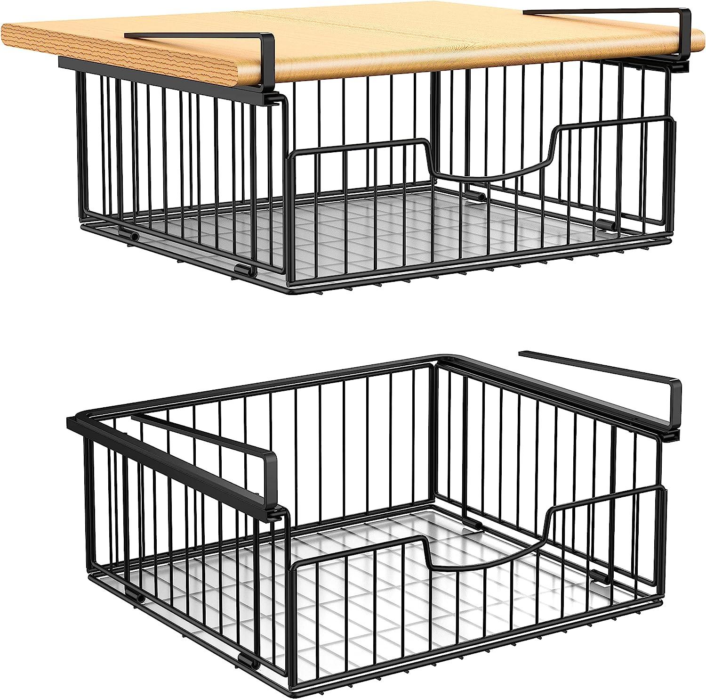 Bextsrack Under Shelf Basket 2 Outlet ☆ Max 89% OFF Free Shipping Pack for Sliding Hangi Rack Wire