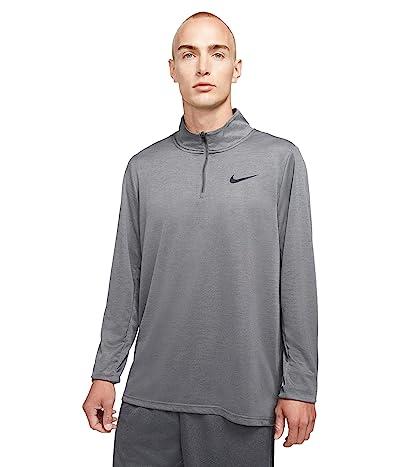 Nike Big Tall Dry Superset Top Long Sleeve 1/4 Zip (Iron Grey/Black) Men