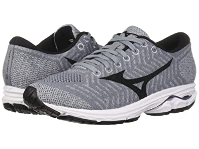 Mizuno Wave Rider 22 Knit (Folkstone Gray/Black) Women