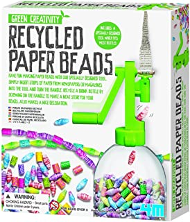 4M Green Creativity Recycled Paper Beads Kit - Arts & Crafts Upcycle Decorative Jewelry Art Gift for Kids & Teens, Boys & ...