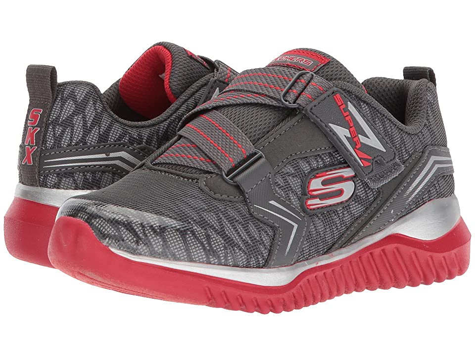 SKECHERS KIDS Turboshift (Little Kid/Big Kid) (Charcoal/Red) Boy