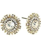 Marchesa - Pearl Round Button Earrings