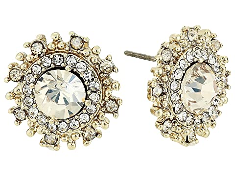 Marchesa Pearl Round Button Earrings