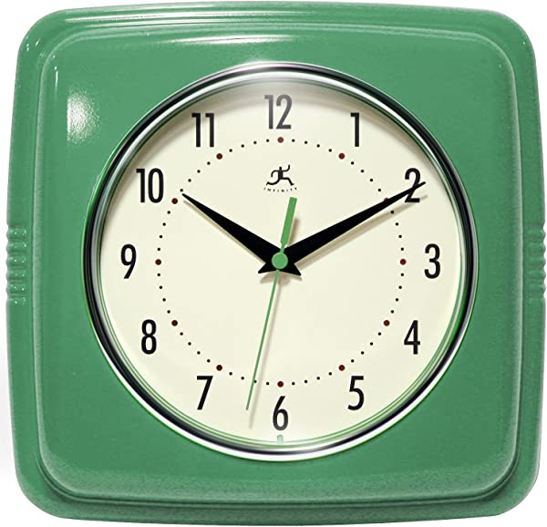 Infinity Instruments Square Clock Green