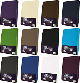 NatureMark Drap-housse en tissu éponge Plusieurs tailles et coloris, Coton, naturel, 70x140 cm