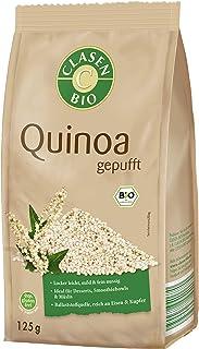 CLASEN BIO Quinoa, gepufft - von Natur aus vegan und glutenfrei, für Müslis, biologischer Anbau - 125 g