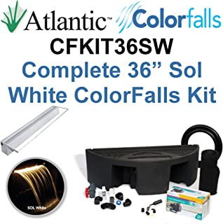 Atlantic Water Gardens CFKIT36SW Complete Sol White Colorfalls Lighted Falls Kit - 36