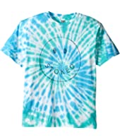 VISSLA Kids - Stoked Tie-Dye 30 Singles Short Sleeve Tee (Big Kids)
