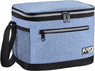 Insulated Lunch Bag for Women Men, Leakproof Thermal Reusable Lunch Box for Adult & Kids by Tirrinia, Lunch Cooler Tote for Office Work, Light Blue