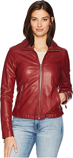PU Zip Front Jacket