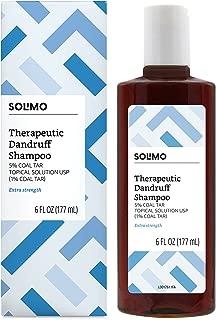 Amazon Brand - Solimo Therapeutic Dandruff Shampoo, Extra Strength, 6 Fluid Ounce