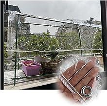 JIANFEI Transparant waterdicht dekzeil Tarp, Outdoor PVC Anti-UV Multifunctionele Cover, Patio met Oogjes Plant Winddicht ...