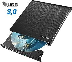 CD Drive with USB 3.0 Superdrive External DVD/CD-RW Burner Writer Optical Drive Compatible with MacBook/Laptop/Windows10 (Black) (Black)