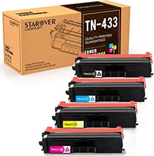 STAROVER Toner Cartridge Replacement for Brother TN-433 TN433 TN431 for HL L8360CDW MFC L8900CDW MFC L8610CDW MFC L8260CDW TN433 TN431 Printer - 4 Pack