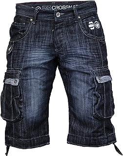 c90faff185 Mens Crosshatch Kanaster Denim Multipocket Cargo Designer Shorts