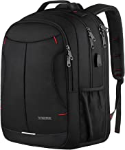 Travel Laptop Backpack,Business Large Durable Laptop Backpack for Men & Women,TSA Computer Backpacks with USB Charging Port,Water Resistant College School Bookbag Fits 17 Inch Laptop,Black