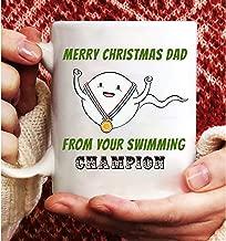 Merry christmas dad from your swimming champion mug Printing On Both Sides,Coffee Mug,Funny Mug,Gifts Mug,Gifts Coffee Mug,Gifts For Women And Men,11 OZ