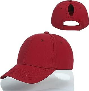 Kajeer Messy High Ponytail Buns Ponycap Plain Trucker Cap Hat