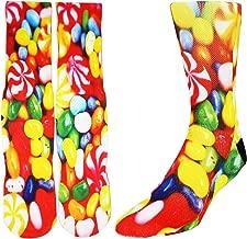 Zmart Unisex Novelty Funny Crazy Colorful Athletic Sports Crew Tube Socks