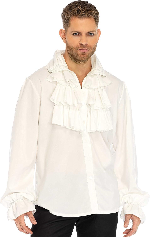 Leg Avenue Men's Max 42% OFF Renaissance Front Trust Ruffle Pirate Shirt