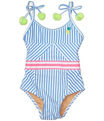 shade critters Cutout Back One-Piece Pinstripe Pineapple (Infant/Toddler) (Blue) Girl