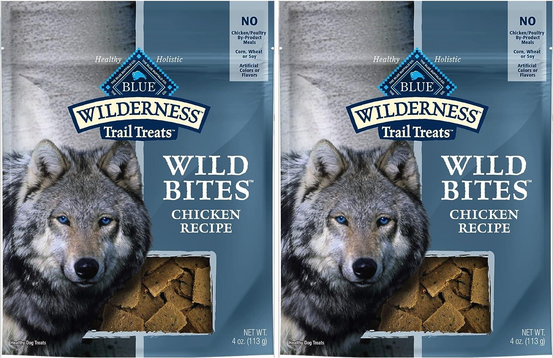 Blue Buffalo Wilderness Grain-Free Wild Very popular Chicken Bites Atlanta Mall 2 Treats