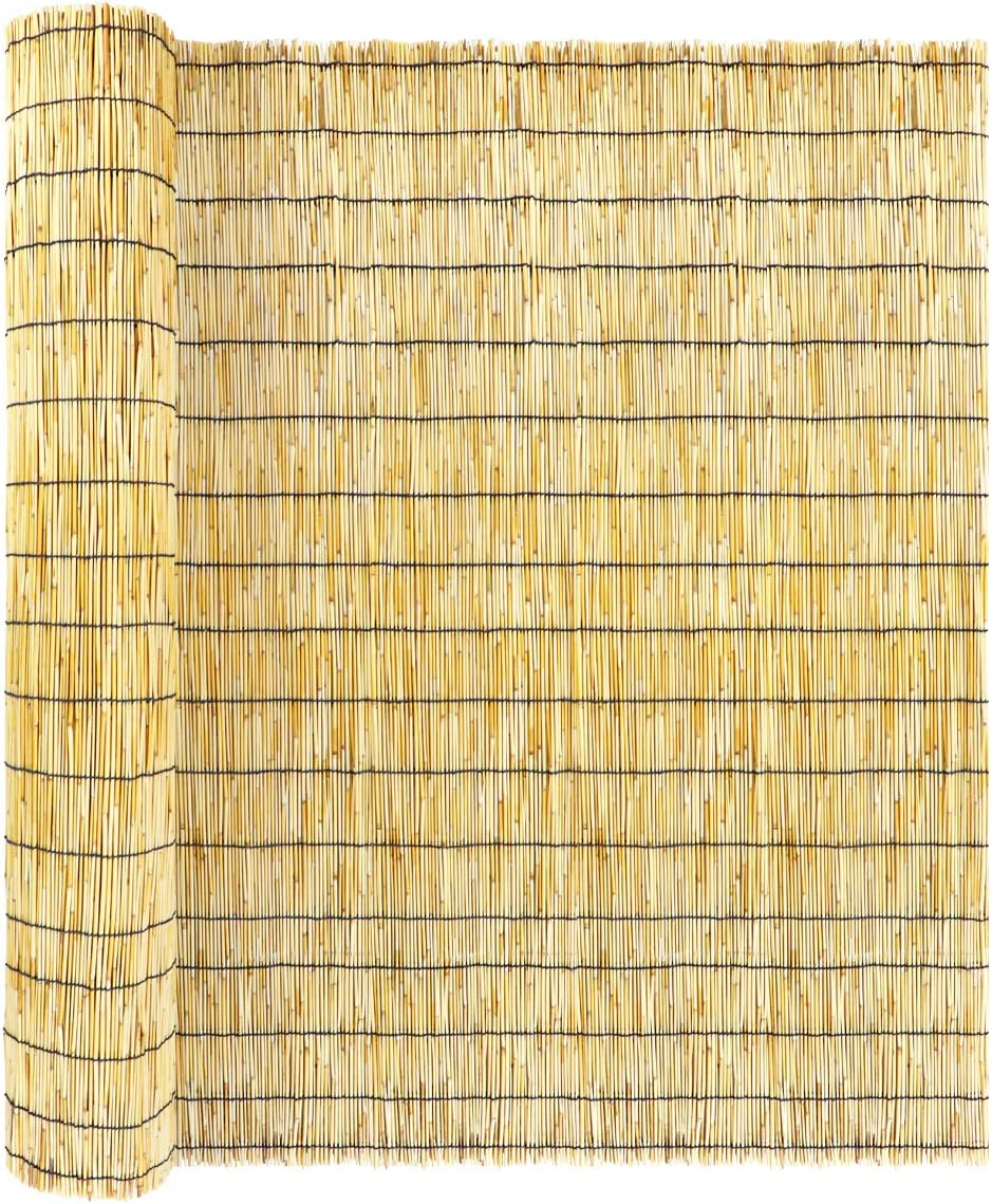 ZNCMRR Natural Reed Screen Curtain Fence16.4f Jacksonville Mall 25% OFF Eco-Friendly