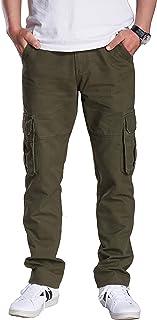 AiLoKoSo シックスポケット メンズ カーゴパンツ ワークパンツ ロングパンツ ワイドパンツ カジュアル 作業着 綿パン 軍パン ミリタリー 長ズボン ボトムス パンツ ストレート ゆったり 多機能 マチポケット オールシーズン