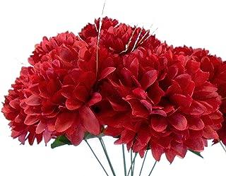Phoenix Chrysanthemum Mum Ball Bush Artificial Silk Flowers 10-2302BU2 19