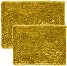 Sweet Home Collection Bath Set 2 Piece Butter Chenille Noodle Soft Luxurious Rugs Absorbent Non Slip Latex Back Microfiber...