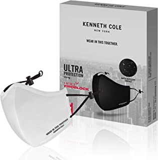 Kenneth Cole IVORY PACK OF 1 Neoprene Anti Viral with Virus Killing Technology Water Repellent Anti Heat Mask 6 Layer Reusable Outdoor Face Mask with temperature and moisture control