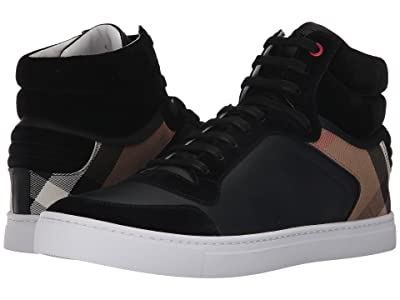 Burberry Reeth House Check High Top Sneaker (Black) Men