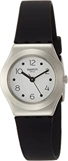 Swatch Women's White Dial Silicone Band Watch - YSS315