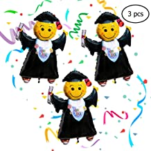 Graduation Party Supplies-Pack of 3 Jumbo Grad Balloons-For Elementary, Middle/High School, or College Graduates