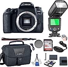 Canon EOS 77D Body Only + 32GB Memory + Camera Bag + TTL Speed Light + Value Kit