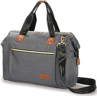 BLUE SINCERE マザーズバッグ トートバッグ ショルダーバッグ 大容量 2way 斜めがけ 保冷・保温ポケット付き 多機能 ママバッグ MOB1