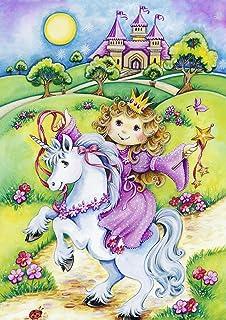 Toland Home Garden Princess Unicorn Decorative Cute Childrens Fantasy Magic