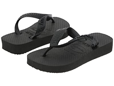 Havaianas Kids Top Flip Flops (Toddler/Little Kid/Big Kid) (Black) Kid