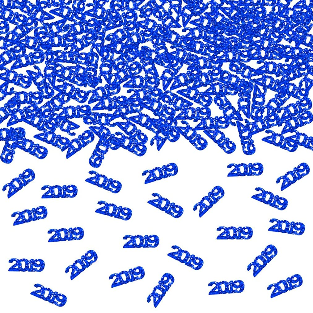 2019 Blue Confetti - Pack of 1000, 2.6 Oz - 2019 Graduation Party Supplies, 2019 Graduation Decorations, Party Decorations for Birthday, Weddings