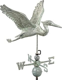 Good Directions Blue Heron Weathervane, Blue Verde Copper, Patina