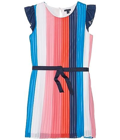 Tommy Hilfiger Kids Color-Block Pleated Dress (Big Kids) (Flag Blue) Girl