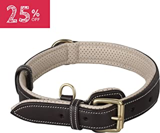 PawFurEver Leather Dog Collar | Soft & Breathable Padded | Features an Elegant Design | Heavy Duty Dog Collar | Keeps Your Dog Comfortable (Available for Small, Medium, Large and XLarge Breeds)