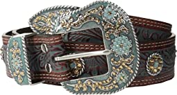 Nocona Embossed Wash & Rihinstone Concho Belt