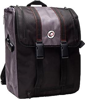 Case-It BKP-102 Laptop Backpack with Hide-Away Binder Holder, Fits 13-Inch Laptops, Black/Grey (BKP-102 BLKG)