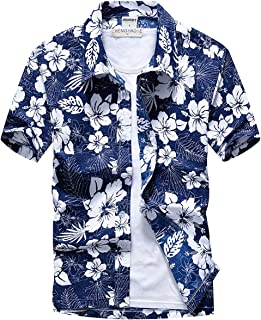 (TERA Dream) アロハシャツ メンズ 半袖 ハワイ風 プリントシャツ 通気速乾 軽量 総柄 シャツ 夏 ビーチ ウェディング ウエア オシャレ