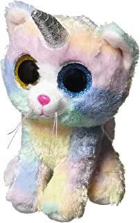 Beanie Boos Cat Heather W/Horn Regular 8In - Colors may vary