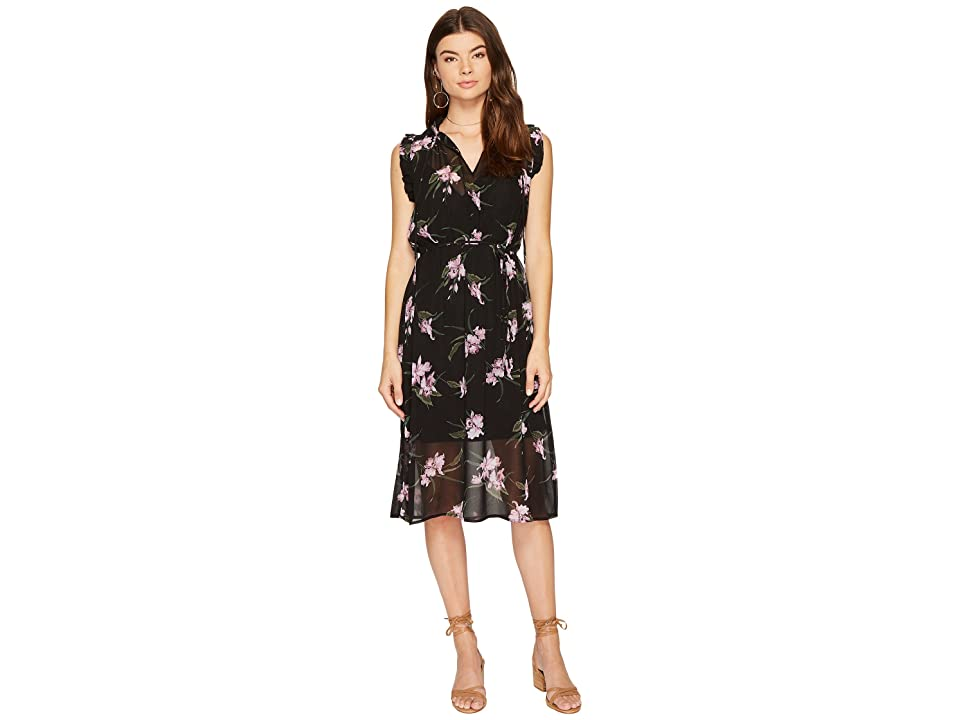 BB Dakota Sarah Sheer Printed Dress (Black) Women