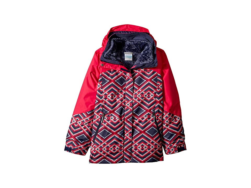 Columbia Kids Bugabootm II Fleece Interchange Jacket (Little Kids/Big Kids) (Nocturnal Microgeo Print/Cactus Print) Girl
