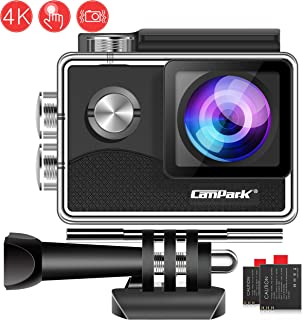 Campark X15 4K Action Camera with Touch Screen EIS Anti-Shake WiFi Waterproof Cam 30m Underwater with Mount Accessory Kits, Compatible with go pro